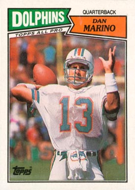 1987 Topps Dan Marino #233 Football Card