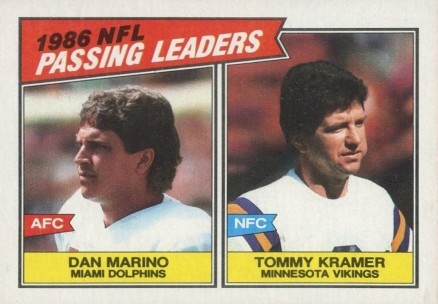 1987 Topps Passing Leaders #227 Football Card