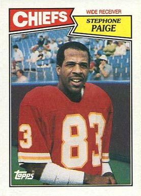 1987 Topps Stephone Paige #162 Football Card