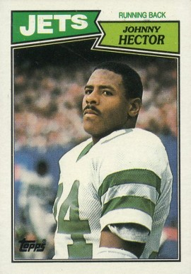 1987 Topps Johnny Hector #130 Football Card