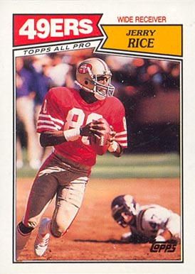 1987 Topps Jerry Rice #115 Football Card