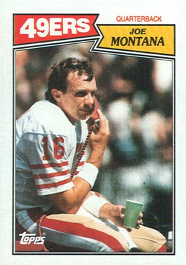 1987 Topps Joe Montana #112 Football Card