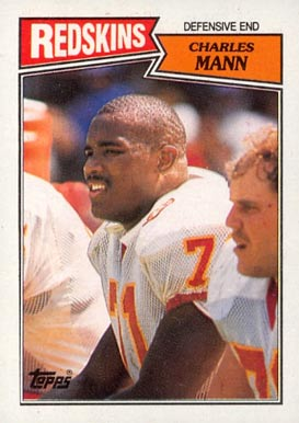 1987 Topps Charles Mann #74 Football Card