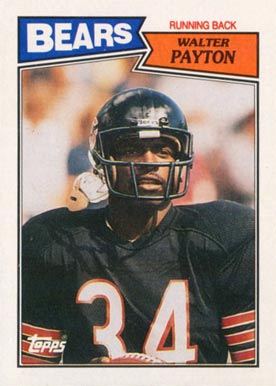 1987 Topps Walter Payton #46 Football Card
