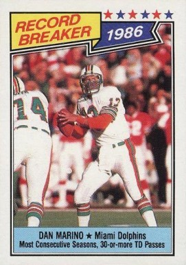 1987 Topps Dan Marino #6 Football Card