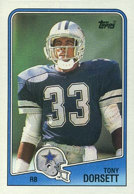 1988 Topps Tony Dorsett #262 Football Card