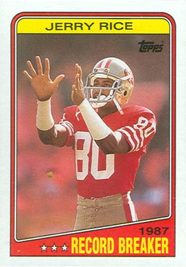 1988 Topps Jerry Rice #6 Football Card