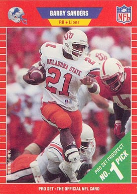 1989 Pro Set Barry Sanders #494 Football Card