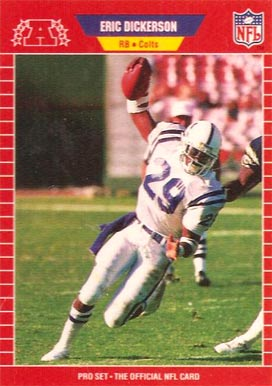 1989 Pro Set Eric Dickerson #455 Football Card