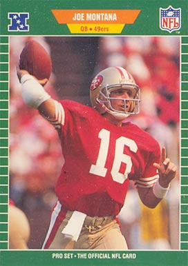 1989 Pro Set Joe Montana #381 Football - VCP Price Guide