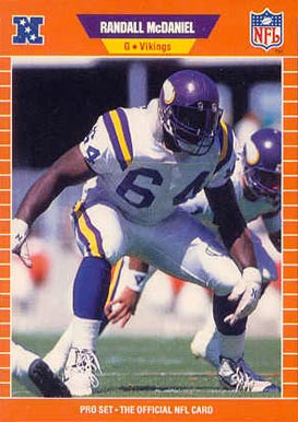 1989 Pro Set Randall McDaniel #235 Football Card