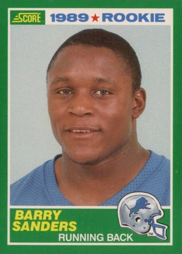 1989 Score Barry Sanders #257 Football Card