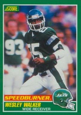 1989 Score Wesley Walker #312 Football Card