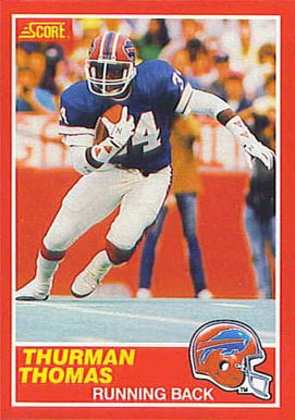 1989 Score Thurman Thomas #211 Football Card