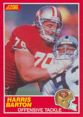 1989 Score Harris Barton #148 Football Card