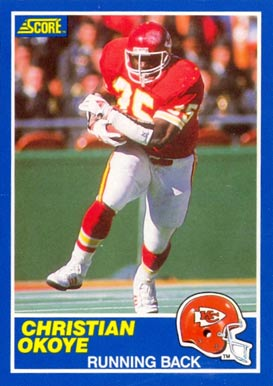 1989 Score Christian Okoye #43 Football Card