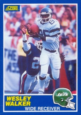 1989 Score Wesley Walker #35 Football Card