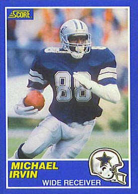 1989 Score Michael Irvin #18 Football Card