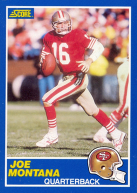 1989 Score Joe Montana #1 Football Card