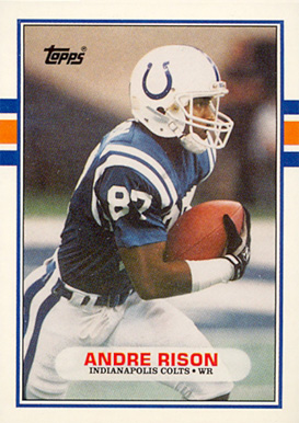 1989 topps traded andre rison 102t football card value price guide