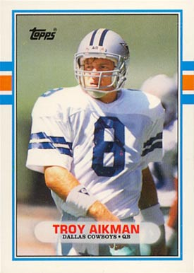 1989 Topps Traded Troy Aikman #70T Football Card