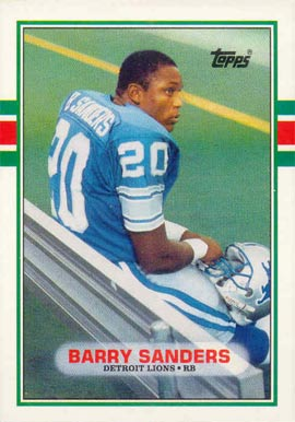 1989 Topps Traded Barry Sanders #83T Football Card