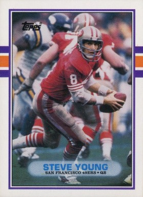 1989 Topps Traded Steve Young #24T Football Card