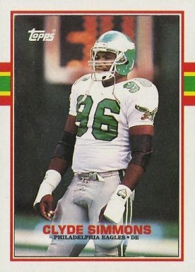 1989 Topps Clyde Simmons #109 Football Card