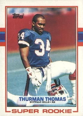 1989 topps thurman thomas 45 football card value price guide