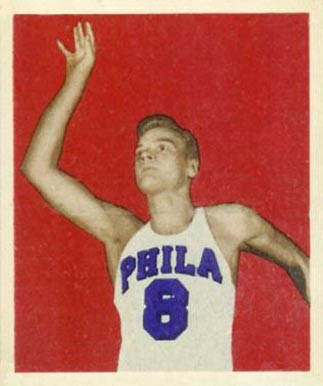 1948 Bowman George Senesky #25 Basketball Card