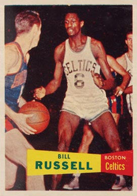 1957 Topps Bill Russell #77 Basketball Card