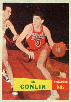 1957 Topps Ed Conlin #58 Basketball Card