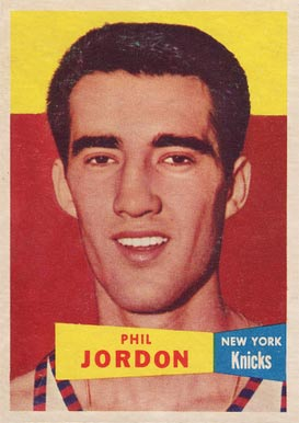 1957 Topps Phil Jordan #55 Basketball Card