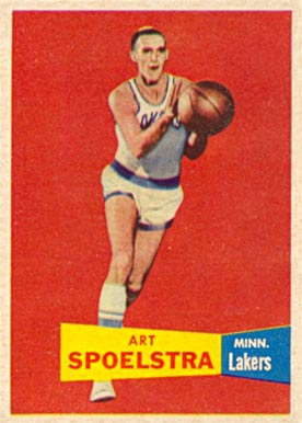 1957 Topps Art Spoelstra #52 Basketball Card