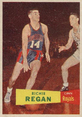 1957 Topps Richie Regan #50 Basketball Card