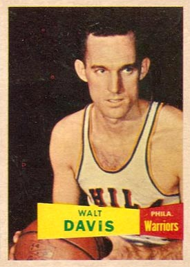 1957 Topps Walt Davis #49 Basketball Card
