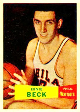 1957 Topps Ernie Beck #36 Basketball Card