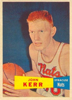 1957 Topps John Kerr #32 Basketball Card