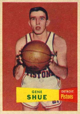 1957 Topps Gene Shue #26 Basketball Card