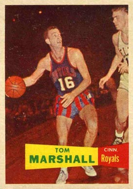 1957 Topps Tom Marshall #22 Basketball Card