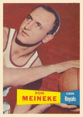1957 Topps Don Meineke #21 Basketball Card