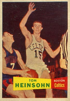 1957 Topps Tom Heinsohn #19 Basketball Card