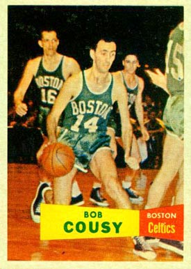 1957 Topps Bob Cousy #17 Basketball Card