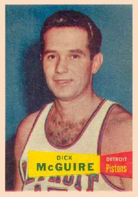1957 Topps Dick Mcguire #16 Basketball Card