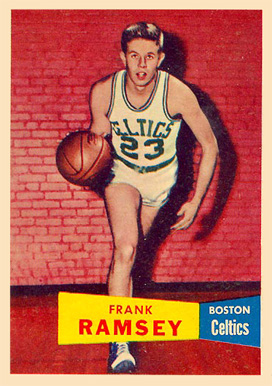 1957 Topps Frank Ramsey #15 Basketball Card