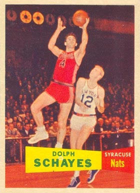 1957 Topps Adolph Schayes #13 Basketball Card