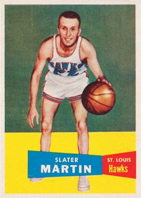 1957 Topps Slater Martin #12 Basketball Card