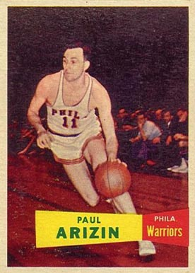 1957 Topps Paul Arizin #10 Basketball Card
