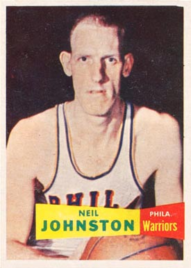 1957 Topps Neil Johnston #3 Basketball Card