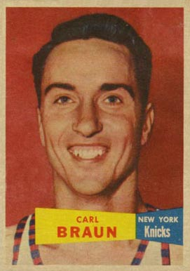 1957 Topps Carl Braun #4 Basketball Card